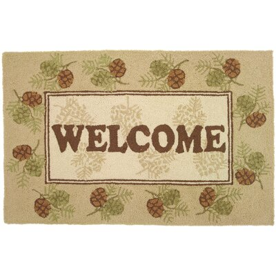 Homefires Welcome Pine Cones Rug
