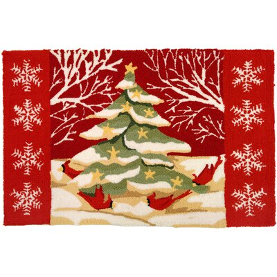 Homefires Accents Seasonal Christmas Tree Forest Novelty Rug