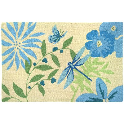 Homefires Blue Butterfly and Dragonfly Rug