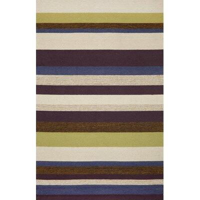 Trans-Ocean Rug Ravella Stripe Purple Indoor/Outdoor Rug