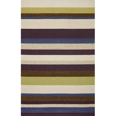 Trans-Ocean Rug Ravella Stripe Purple Indoor / Outdoor Rug