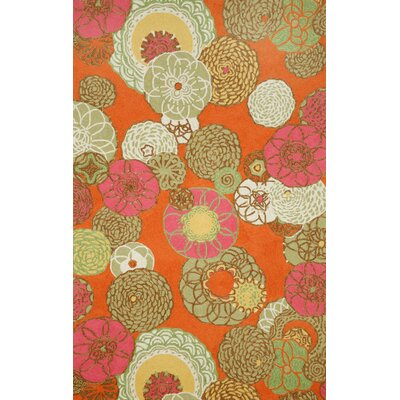 Trans-Ocean Rug Ravella Disco Orange Indoor/Outdoor Rug
