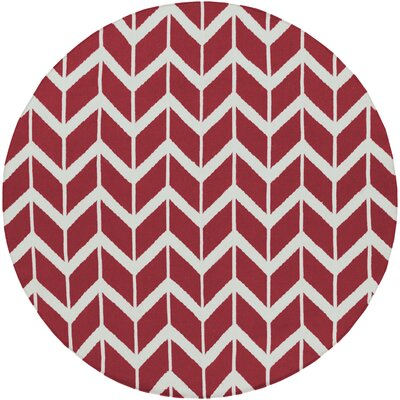 Surya Fallon Red Chevron Rug
