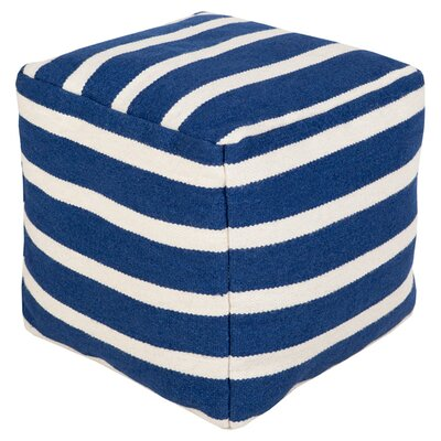 Sophisticated Stripes Pouf