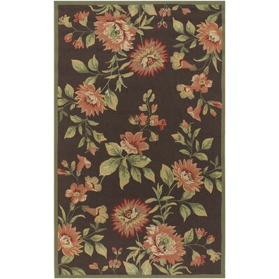 Surya Rain Chocolate/Burgundy Rug