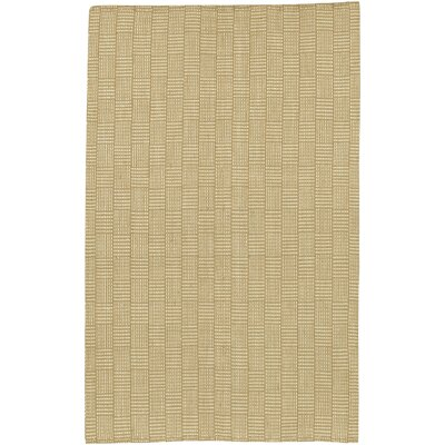 Surya Jute Woven Tan Checkered Rug