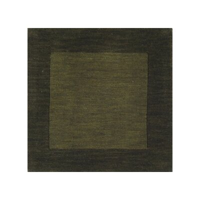 Surya Mystique Dark Green Border Rug
