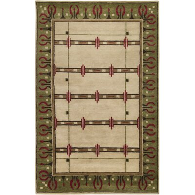 Surya Arts and Crafts Turtle Green Rug