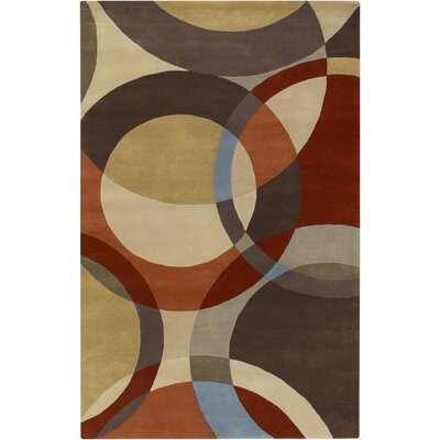 Surya Rug Forum Chocolate/Red Rug