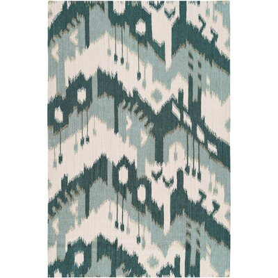 Jewel Tone Peacock Green/Blue Haze Rug