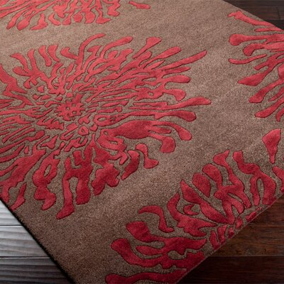 Surya Bombay Chocolate/Red Rug