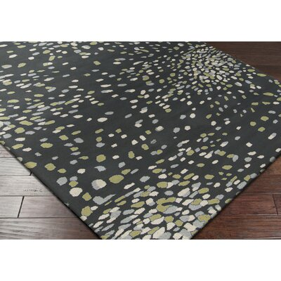 Surya Splatter Bloom Sky Gray Rug