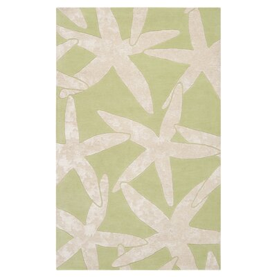 Surya Escape Lettuce Leaf/White Rug