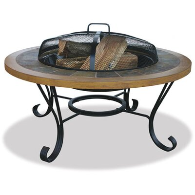 Uniflame Corporation Slate Tile / Faux Wood Outdoor Fire Pit