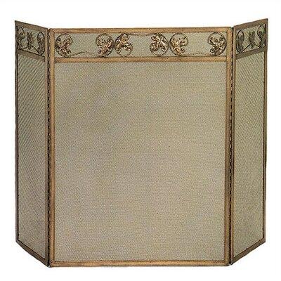 3 Fold Copper Screen w/ Leaf Design