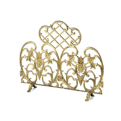 Antique Gold Fireplace Screen