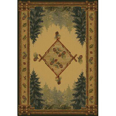United Weavers of America Genesis Forest Trail Lodge Novelty Rug