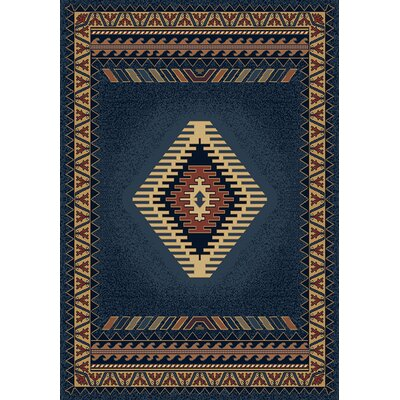 United Weavers of America Manhattan Tucson Blue/Red Rug