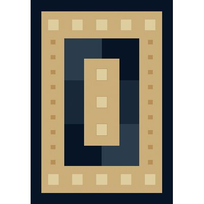 Manhattan Times Square Navy/Beige Rug