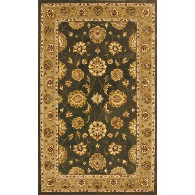 Jewel Green/Dark Linen Rug