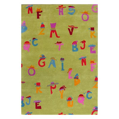 Dynamic Rugs Fantasia Alphabet Green Kids Rug