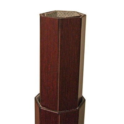 Anji Mountain Deluxe Bamboo Office Chairmat, Rectangular