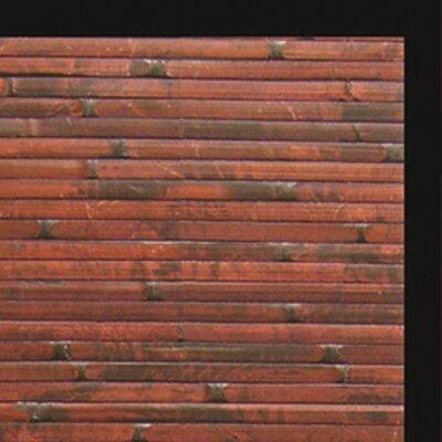 Anji Mountain Cobblestone Mahogany Bamboo Rug
