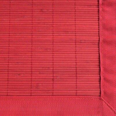 Anji Mountain Bamboo Rugs Villager Crimson Rug