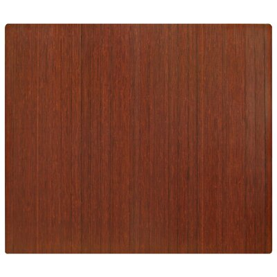 Anji Mountain Standard Bamboo Dark Cherry Roll-Up Chairmat