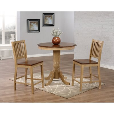 Brookdale 3 Piece Counter Height Dining Set
