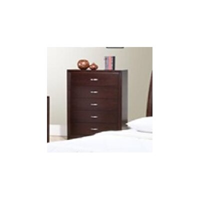 Sunset Trading Raven 5 Drawer Chest