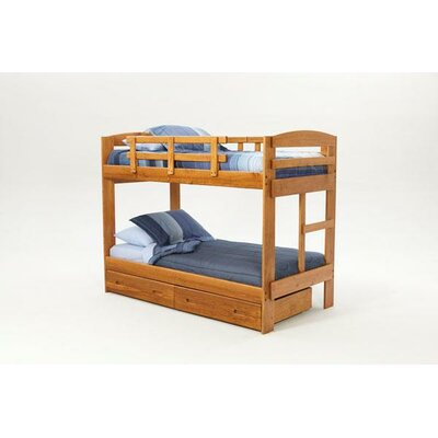 Sunset Trading Rustic Arched Twin over Twin Bunk Bed with Built-In Ladder