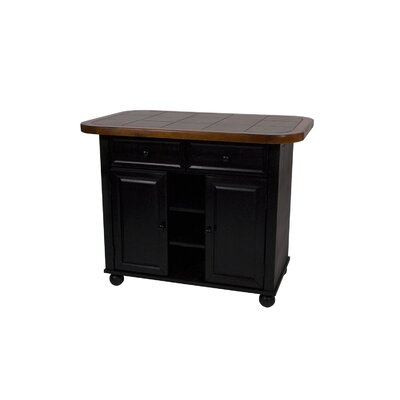 Small Tile Top Kitchen Island with two 24