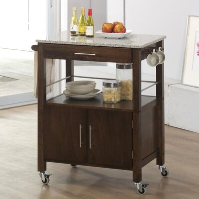 Vancouver Kitchen Island with Marble Top