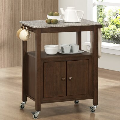 Sunset Trading Miami Kitchen Island with Marble Top