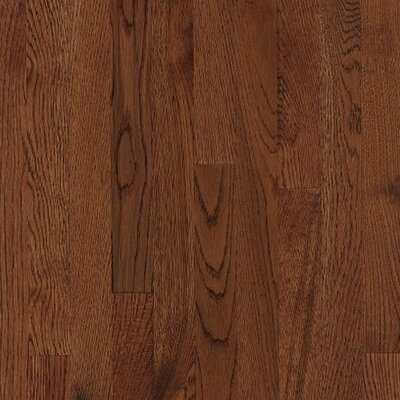 Armstrong Kingsford Strip 2-1/4&quot; Solid White Oak in Coffee