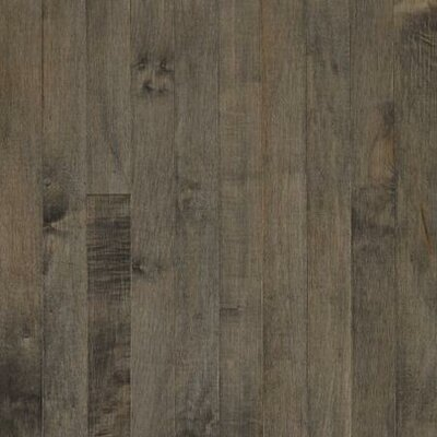 "Armstrong Sugar Creek Strip 2-1/4"" Solid Maple Flooring in Pewter"