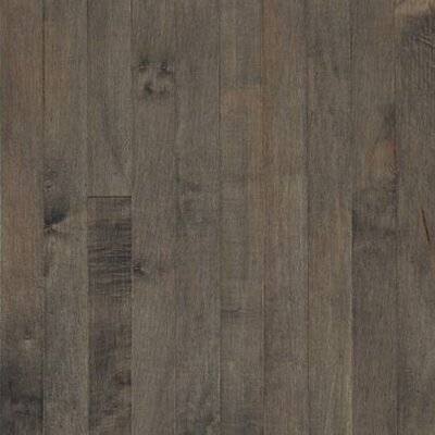 "Armstrong Sugar Creek Plank 3-1/4"" Solid Maple Flooring in Pewter"
