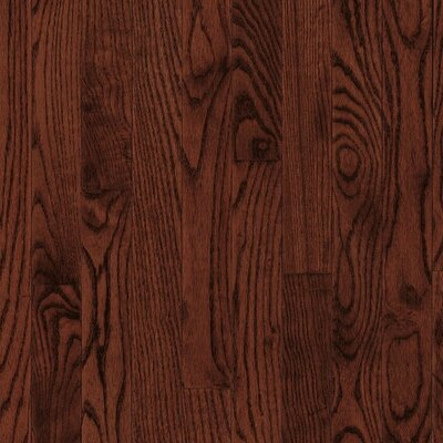 "Armstrong Yorkshire Strip 2-1/4"" Solid White Oak Flooring in Cherry Spice"