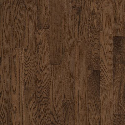 "Bruce Flooring Natural Choice Strip Low Gloss 2-1/4"" Solid White Oak Flooring in Walnut"