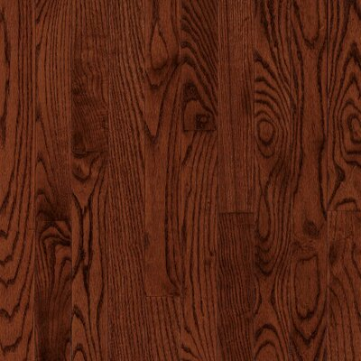 "Bruce Flooring Manchester Strip 2-1/4"" Solid Red Oak Flooring in Cherry"