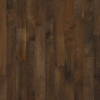 "Bruce Flooring Kennedale Prestige Plank 3-1/4"" Solid Dark Maple Flooring in Cappuccino"