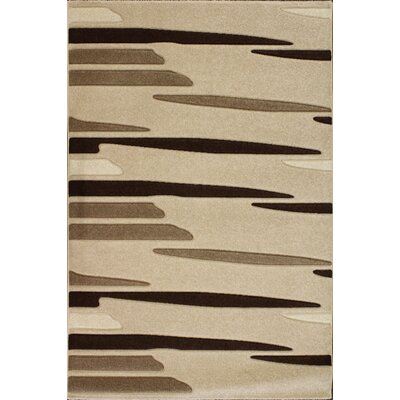 Central Oriental Oasis Striations Beige/Brown Rug