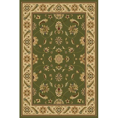 Central Oriental Interlude Kazmir Green Rug