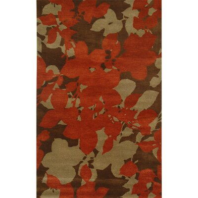 Blue Orchid Cocoa Brown Red Ochre Rug