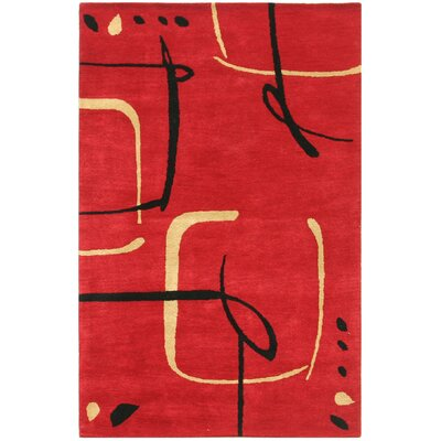 Jaipur Rugs Blue Scribble Down Ribbon Red Rug
