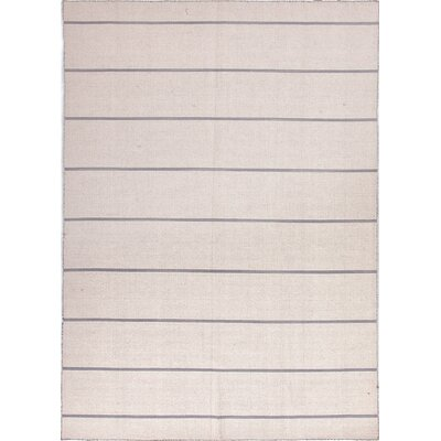 Coastal Living(R) Dhurries White/Ivory Stripe Rug