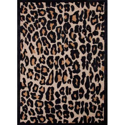 Midtown by Raymond Waites Gray/Black Animal Print Rug