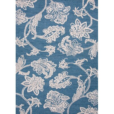 Midtown By Raymond Waites Blue Floral Rug