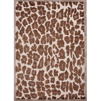 Midtown By Raymond Waites Beige/Brown Animal Print Rug